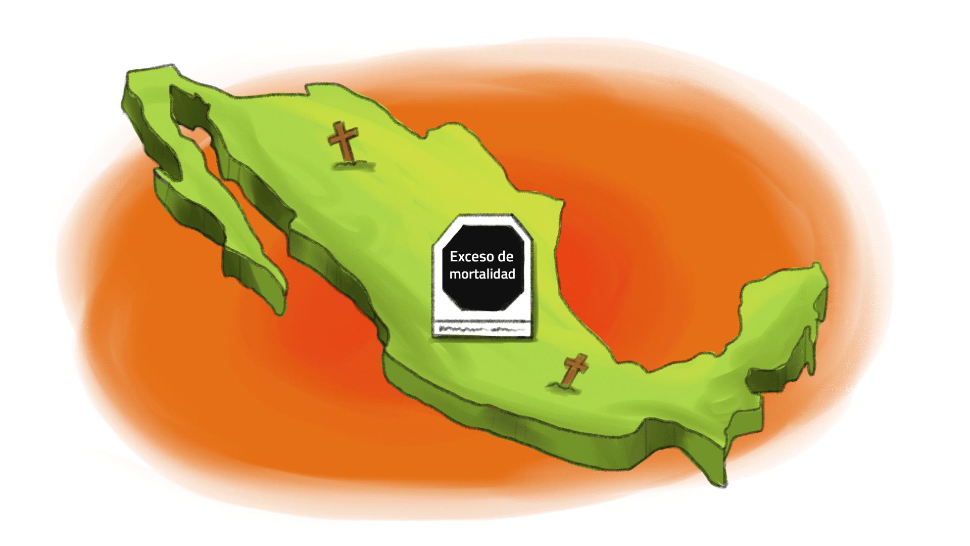 exceso de mortalidad en México