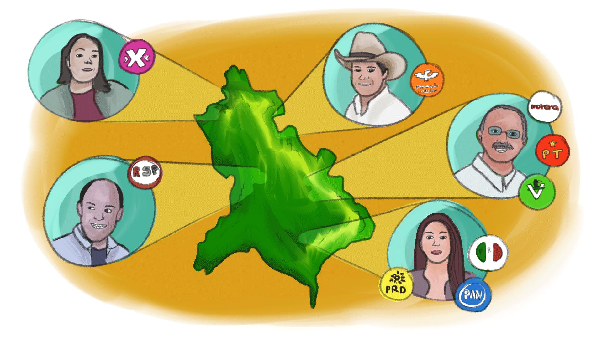 candidatos a gobernador en Nayarit