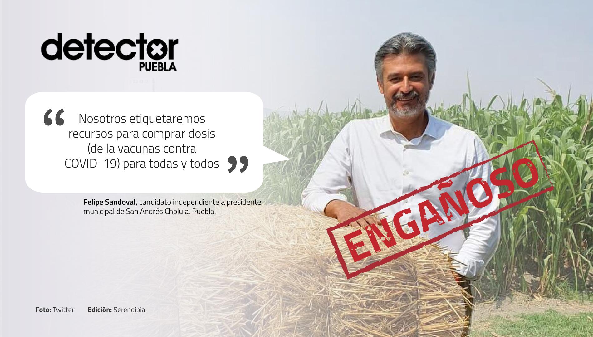 Felipe Sandoval comprar vacunas contra COVID-19