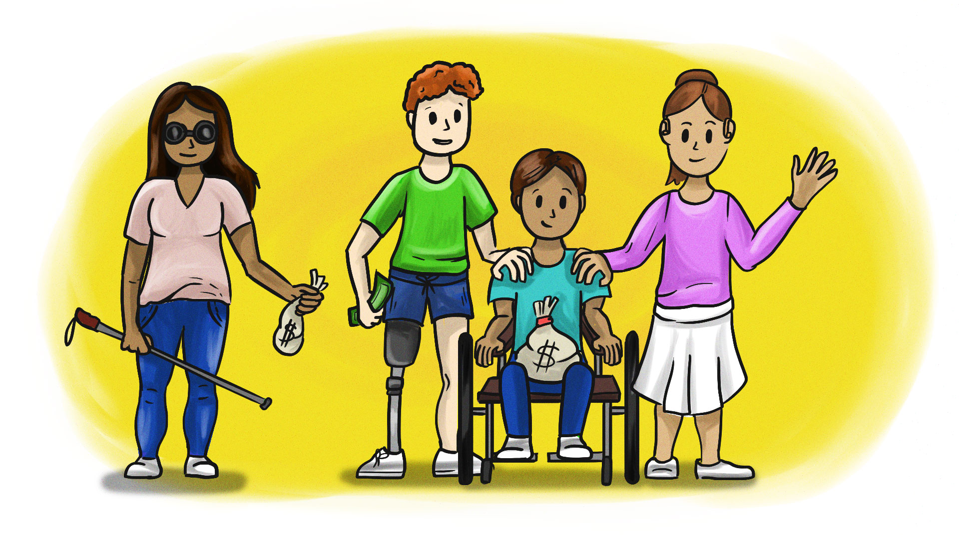 Apoyo para personas con discapacidad 2021