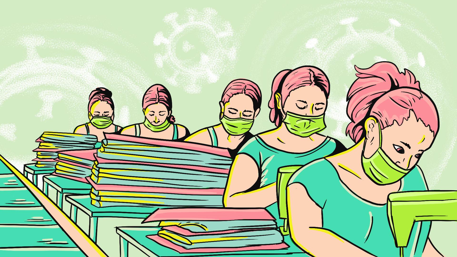 Mujeres en las maquiladoras de Puebla