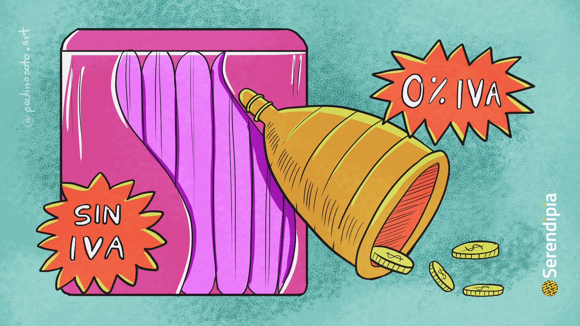 eliminan iva a productos menstruales